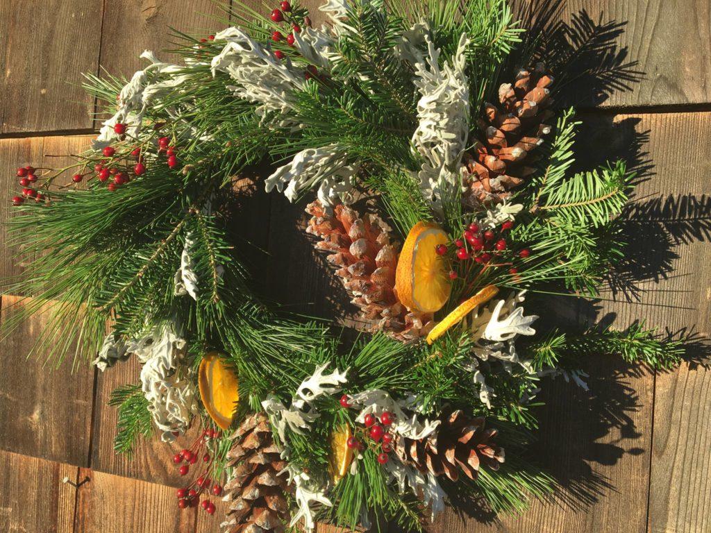 Wednesday, November 28: Natural Wreath Making Class