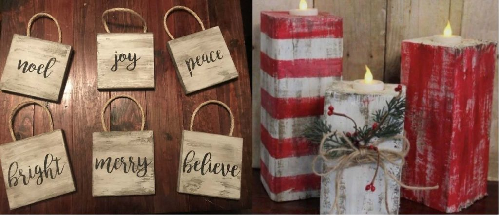 Wednesday, December 5: Holiday Wooden Ornaments and/or Candle Holders