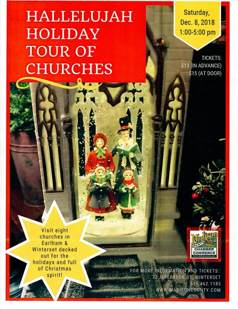 Saturday, December 8: Hallelujah Holiday Tour of Churches